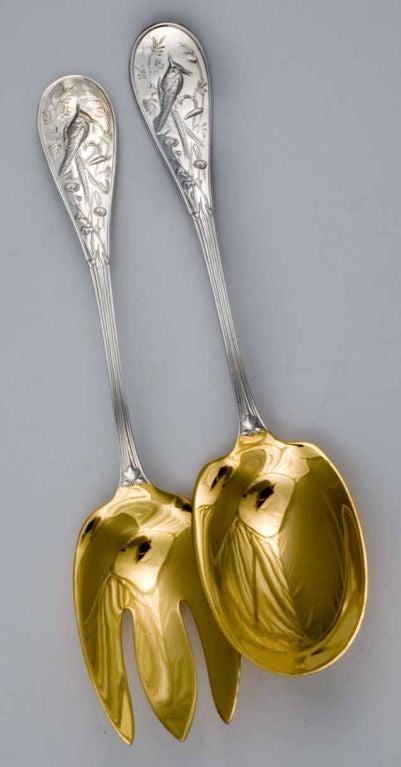 Tiffany Audubon Sterling Silver Flatware Set 135 Pieces At