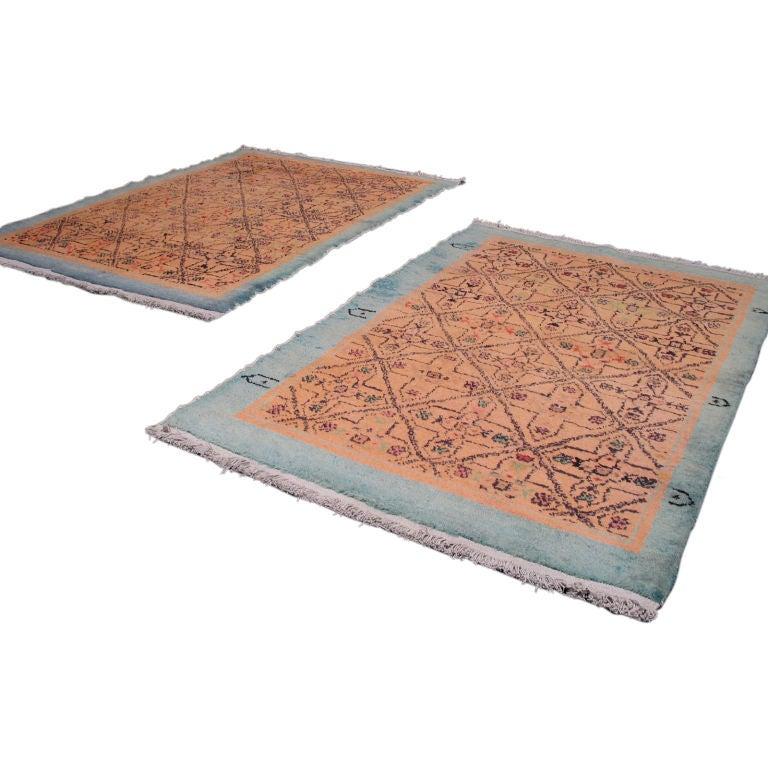 Pair of Oushak Rugs 1