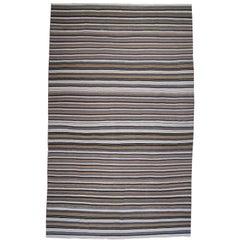 Large Banded Kilim Rug