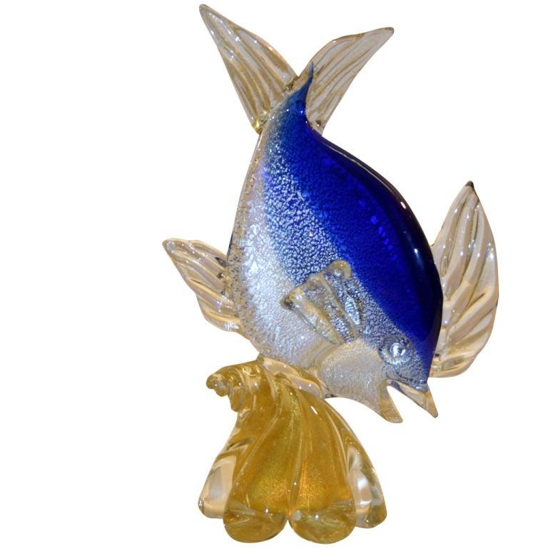 Murano glass fish figure at 1stdibs for Murano glass fish