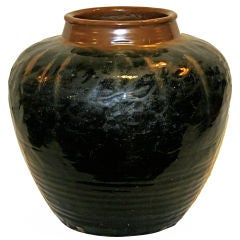 Large Antique Chinese Porcelain Yuan or Ming Dynasty Storage Jar