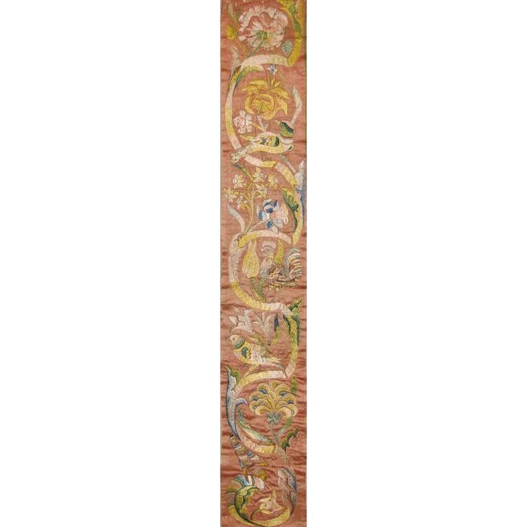 17th Century Italian Silk Embroidery