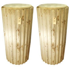 A Pair of Painted Column Pedestals,Circa 1900