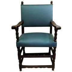 A Louis XIII Walnut Arm Chair