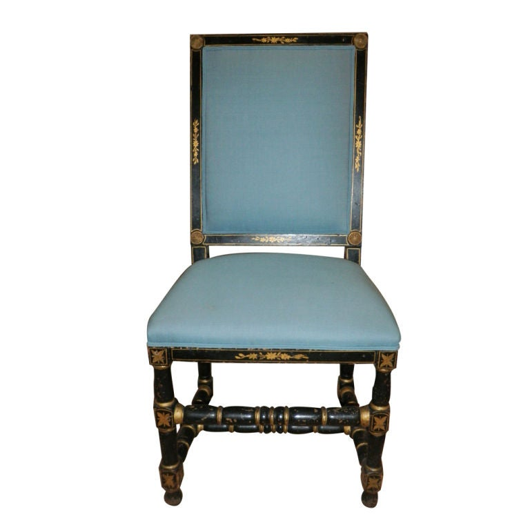 18th Century Swedish Chair Painted Black For Sale At 1stdibs