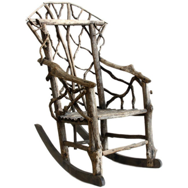 Vine Rocking Chair At 1stdibs