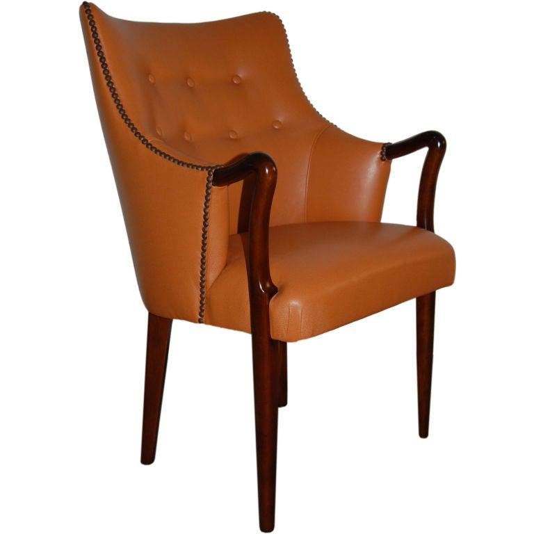 Vintage Danish Mid Century Modern Desk Arm Chair At 1stdibs