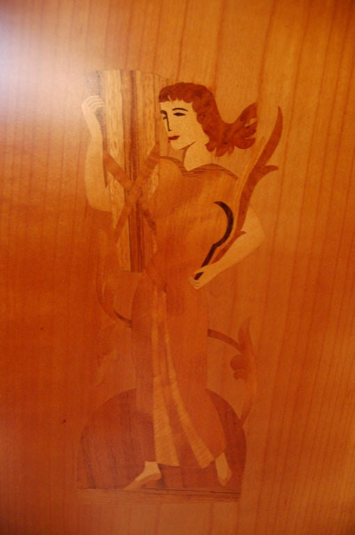 Swedish Art Deco Intarsia Storage, Bar Cabinet For Sale 5