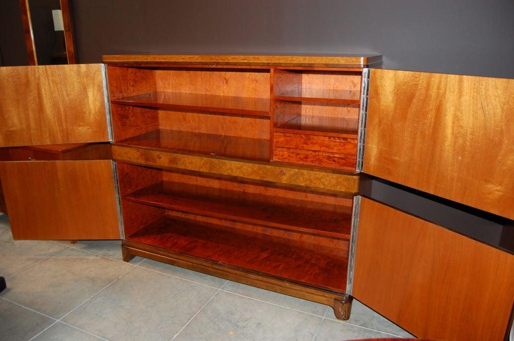 Swedish Art Deco Intarsia Storage, Bar Cabinet For Sale 2