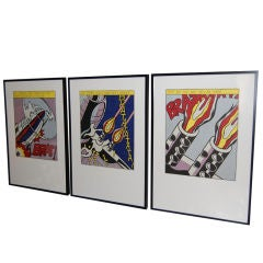 As I Opened Fire - Lithograph Triptych by Roy Lichtenstein