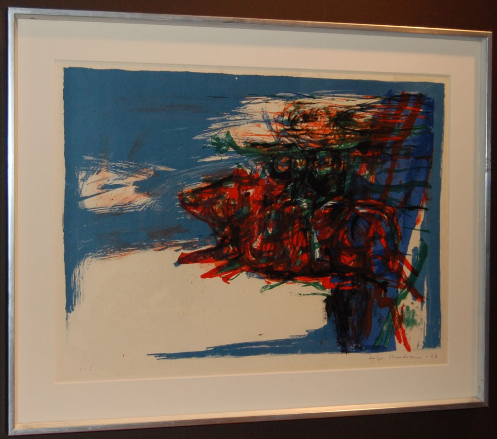 Swedish Abstract Lithograph by Leif Knudsen c. 1962 For ... - photo#2