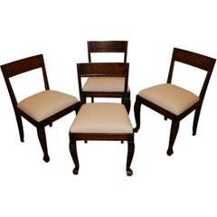 Set of Four Swedish Art Deco Neoclassical Dining Chairs