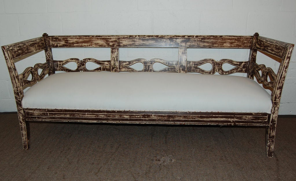 vintage settee for sale antique swedish country gustavian painted settee at 6862
