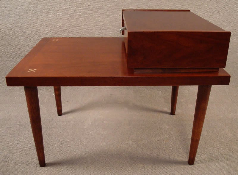 mid century modern american of martinsville teak end table