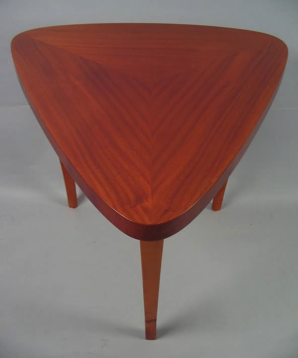 Swedish Art Moderne Triangular End or Side Table at 1stdibs