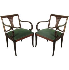 *SALE*  Vintage Pair of Swedish Neoclassical Armchairs
