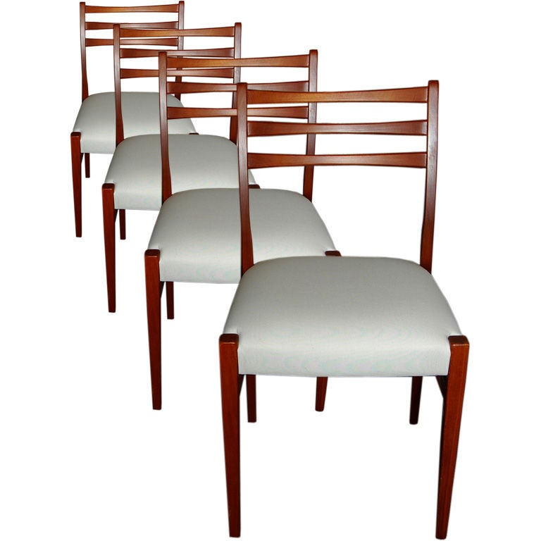 Set Of Four Swedish Mid-Century Modern Teak Dining Chairs