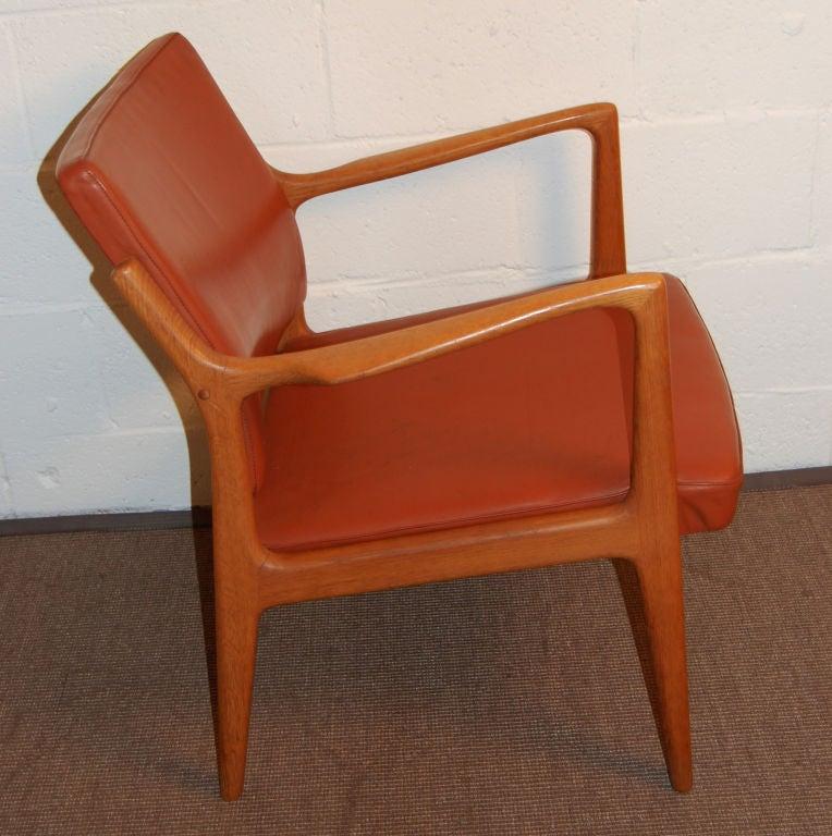 *SALE*  Modern Leather and Teak Arm Chair by Karl-ErikEkselius 2