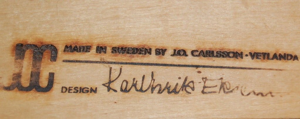 *SALE*  Modern Leather and Teak Arm Chair by Karl-ErikEkselius 3