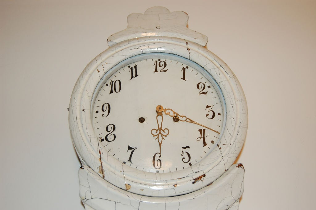 Antique Swedish Country Gustavian Floor Clock 2