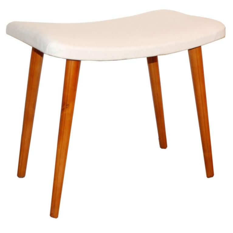 Sale Swedish Art Moderne Vanity Bench Stool At 1stdibs