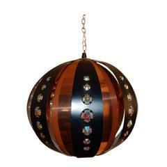 Swedish Modernist Globe Pendant Chandelier by Verner Schou