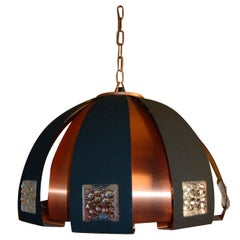 Swedish Modernist Dome Pendant Chandelier by Verner Schou