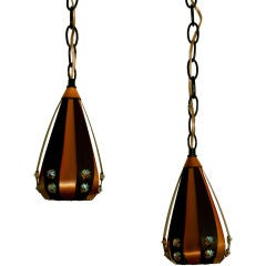 Pair of Modernist Pendants by Werner Schou