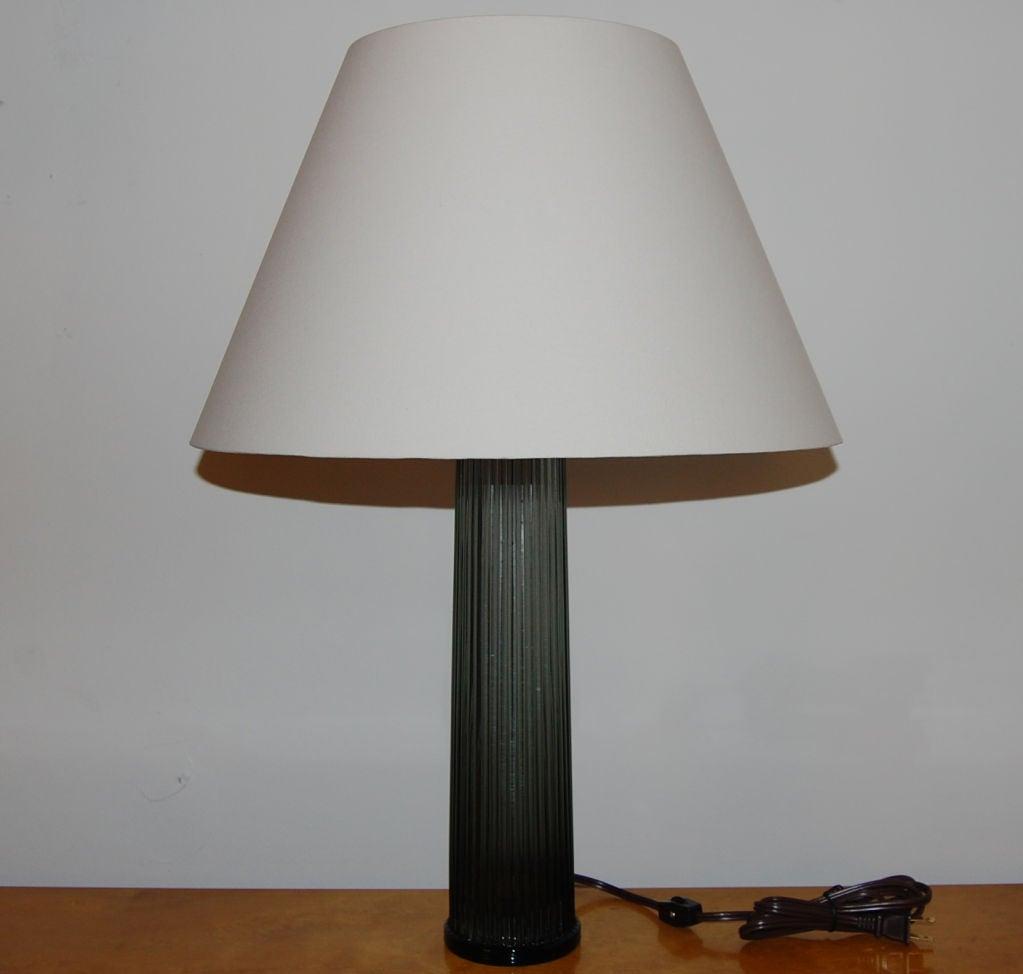 vintage swedish blue glass table lamp by stilarmatur at. Black Bedroom Furniture Sets. Home Design Ideas