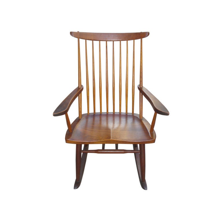 George Nakashima Rocking Chair At 1stdibs