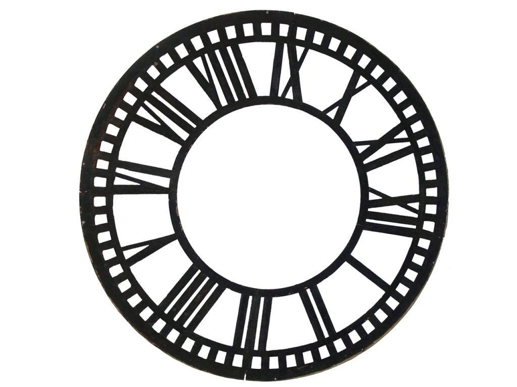 worksheet Empty Clock Faces cast iron clock face at 1stdibs