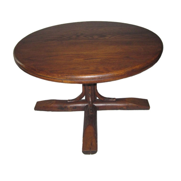 Old Hickory Pedestal Coffee Table At 1stdibs