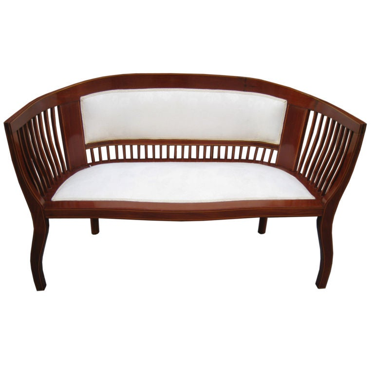 interesting curved settee at 1stdibs