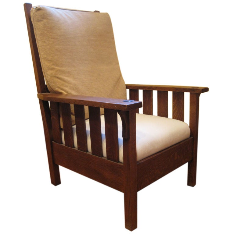 A Mission Oak Arts And Crafts Lounge Chair By Gustav