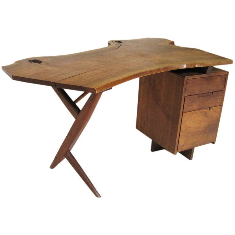 Walnut Conoid Desk By George Nakashima At 1stdibs
