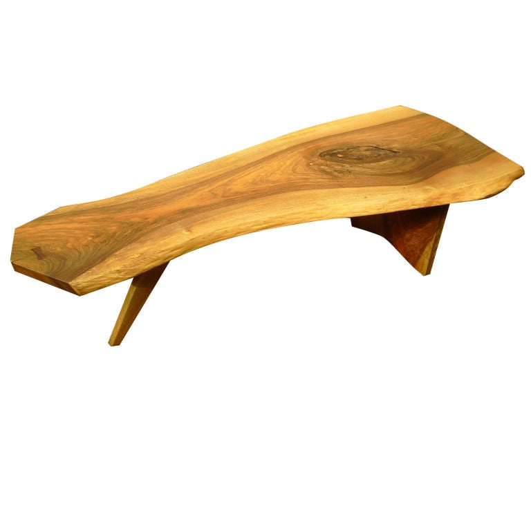 English Walnut Coffee Table By George Nakashima At 1stdibs