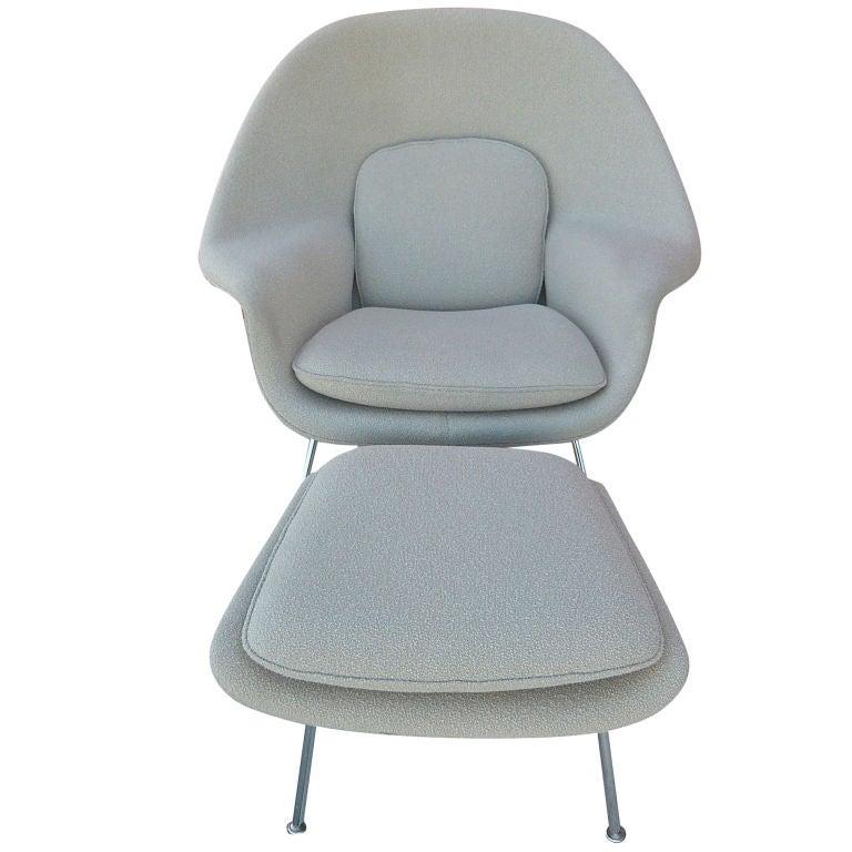 Eero Saarinen Womb Chair Ottoman At 1stdibs