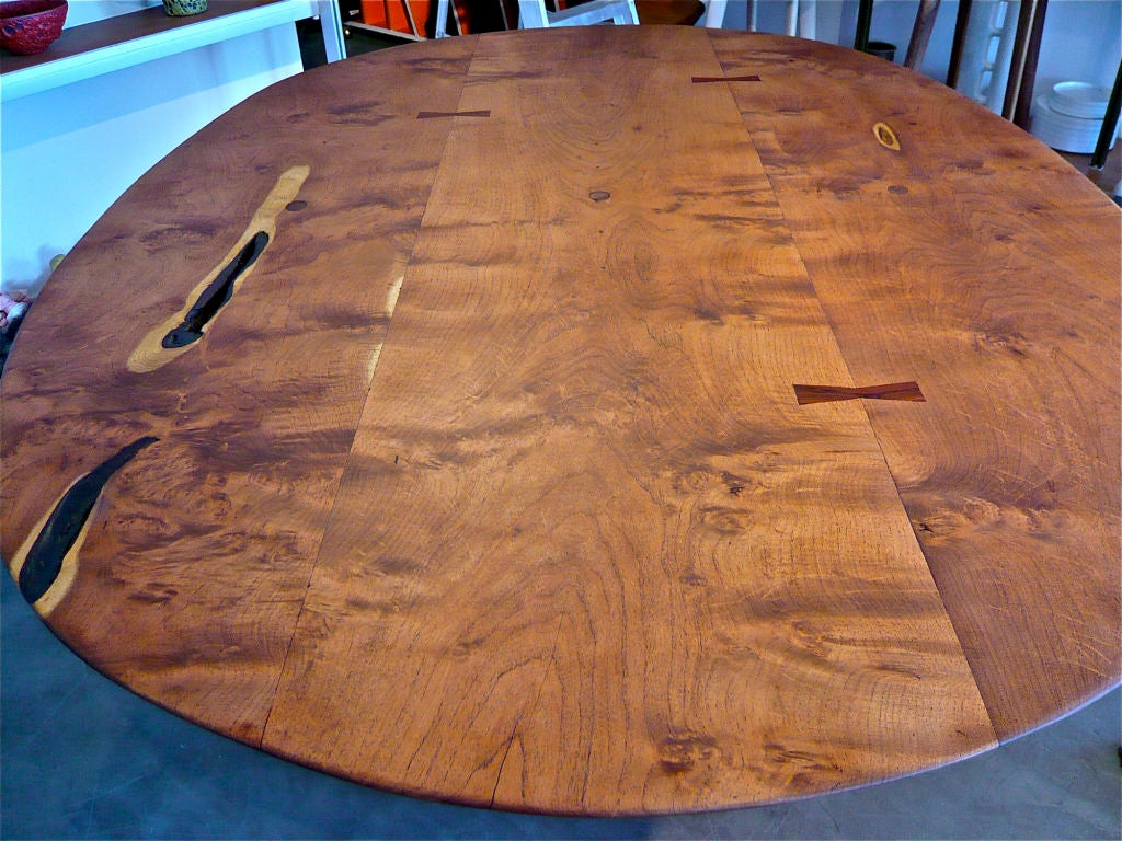 UNIQUE HAND CRAFTED MESQUITE DINING TABLE At 1stdibs