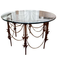 Vintage Wrought Iron Circular Table