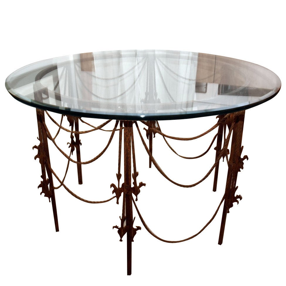 Vintage Wrought Iron Circular Table For Sale At 1stdibs