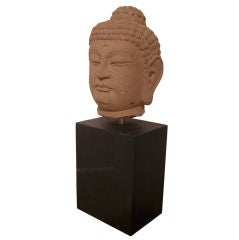 Impressive 18th Century Sandstone Buddha Head
