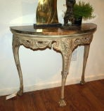 Demilune Carved Wood Console Table image 2