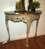 Demilune Carved Wood Console Table image 7