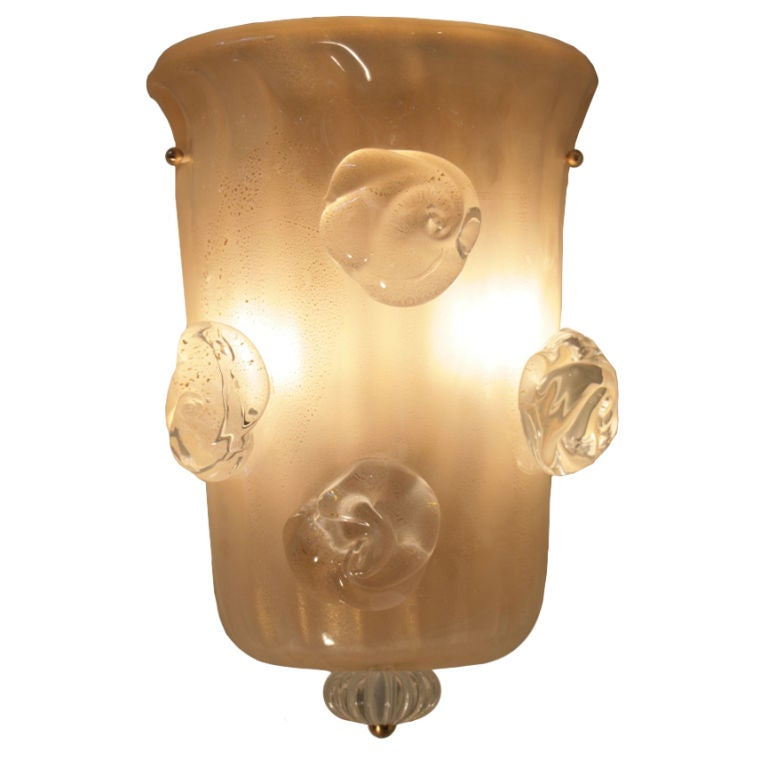 Wall Sconces Hand Blown Glass : Italian Vintage Hand Blown Murano Glass Sconce at 1stdibs
