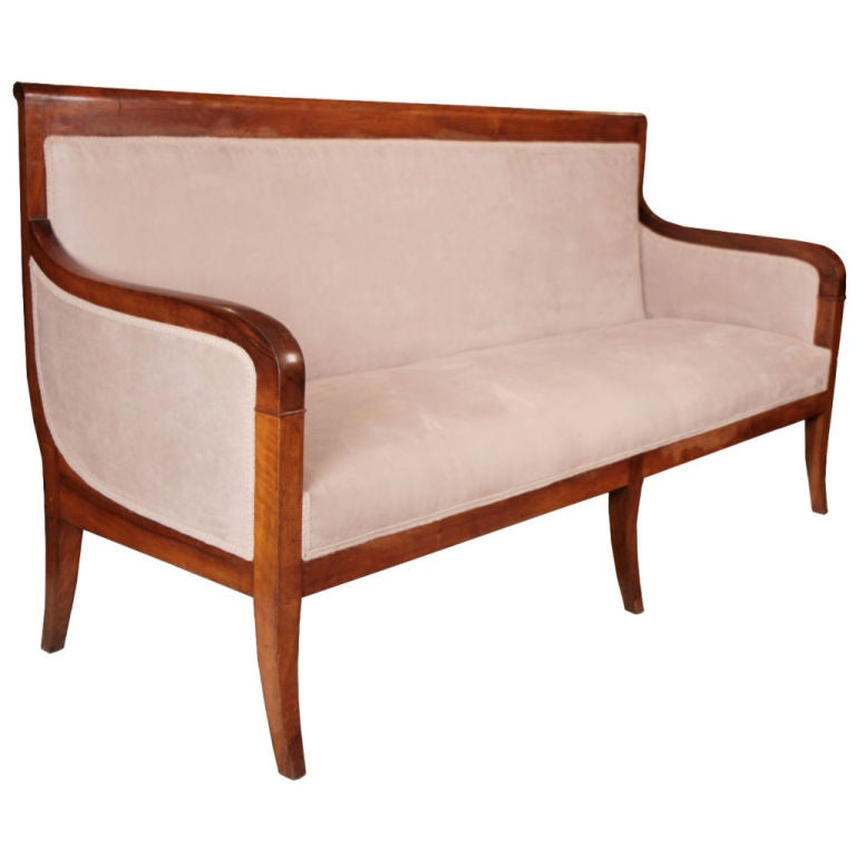 French Antique Restoration Period Settee At 1stdibs