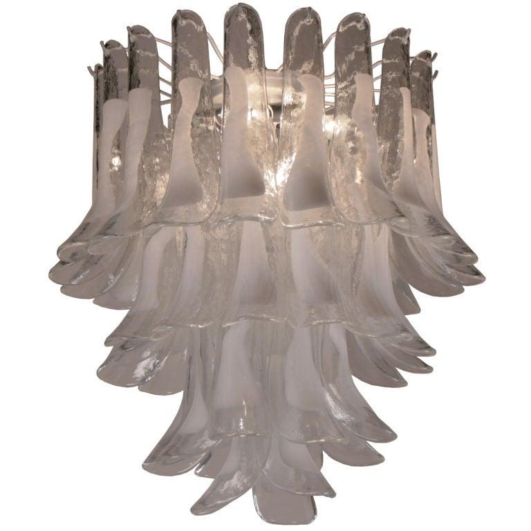 Italian vintage alberto dona murano glass chandelier at for Retro italian xxx