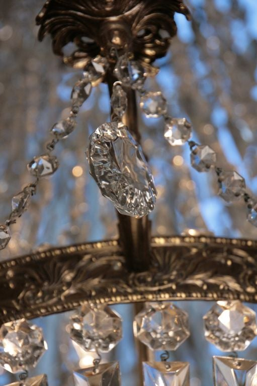 French Antique Directoire Style Chandelier 10