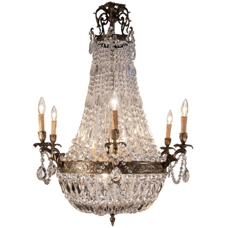 French Antique Directoire Style Chandelier For Sale