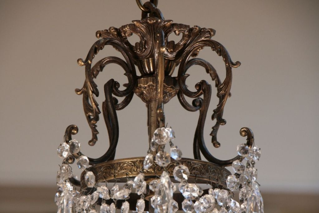 French Antique Directoire Style Chandelier For Sale 4
