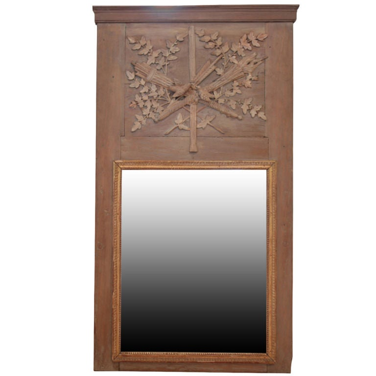french antique trumeau mirror at 1stdibs. Black Bedroom Furniture Sets. Home Design Ideas